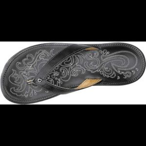 Olukai Paniolo Leather Flip Flop